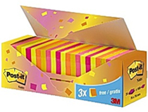 Post-it 76x76 Value pack neon 24st/fp