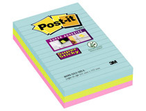 Post-it SS 101x152 Miami linjerat 3st/fp
