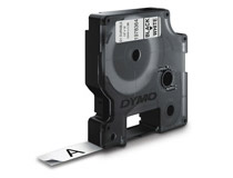 Märkband Dymo D1X 12mm svart/vit