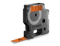 Märkband Dymo D1X 12mm svart/orange