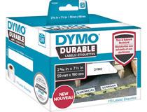 Etikett Dymo Durable 59x190mm vit 170st/rl