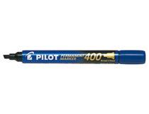 Märkpenna Pilot Permanent Marker snedskuren 400 blå 12st/fp