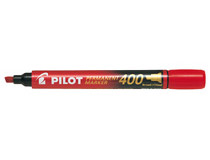 Märkpenna Pilot Permanent Marker snedskuren 400 röd 12st/fp
