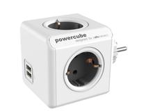Utbyggnad Powercube 4 uttag & 2 USB