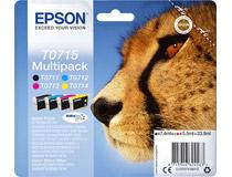 Bläck Epson T0715 CMYK 4st/fp