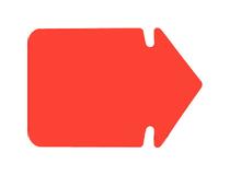 Pil 23x16,5cm fluorescerande röd 25/fp