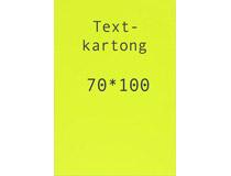 Kartong 70x100cm fluorescerande gul 260g 5st/fp