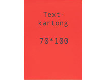Kartong 70x100cm fluorescerande röd 260g 5st/fp