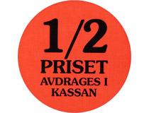 Etikett Halva Priset 29mm 2000st/rl