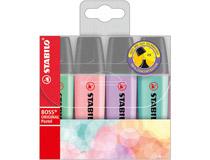 Överstrykningspenna Stabilo Boss pastell 4st/fp