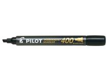 Märkpenna Pilot Permanent Marker snedskuren 400 svart 12st/fp