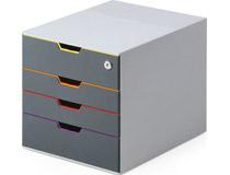 Förvaringsbox Variocolor 4 lådor + lås