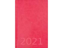 Weekly A5 konstläder rosa 2021