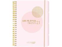 Veckokalender Life Planner rosa A5 2021