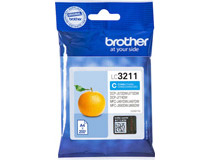 Bläck Brother LC3211C 200 sidor cyan
