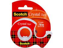 Tejp Scotch klar inkl. dispenser 12mmx10m
