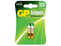 Batteri GP Super Alkaline AAAA 25A/LR61 2st/fp