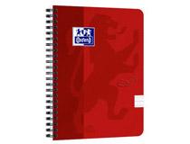 Kollegieblock Oxford Touch A5 90g linjerat röd 5st/fp