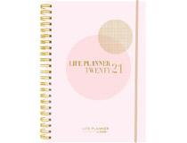 Veckokalender Life Planner rosa A6 2021