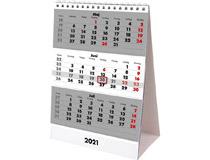 Bordskalender stående Triplaner 2021