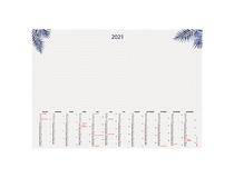 Årsöversikt Whiteboard Punktad mönstrad 2021