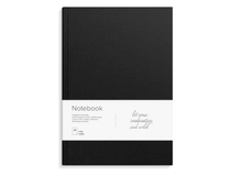 Anteckningsbok A4 inbunden linjerat svart