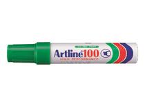 Märkpenna Artline 100 snedskuren grön 6st/fp