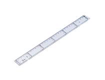 Linjal plast tvärgående 20cm