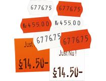 Etikett 26x16 röd G2 6 rullar/fp