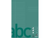Skrivhäfte Bantex A4 linjerat 8,5mm grön 10st/fp