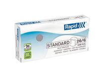 Häftklammer Rapid Standard 26/6 5000st/ask