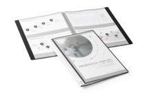 Presentationspärm eget omslag 10 fickor A4 svart