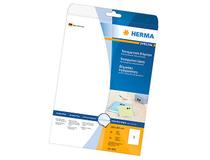 Etikett Herma Special 210x297mm klar transparent 25st/fp