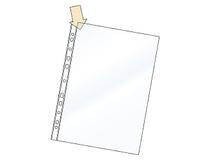 Plastficka A4 PP 0,12 öppen kortsida+långsida 100st/fp