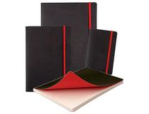 Anteckningsbok Oxford 180x250mm linjerat svart/röd 5st/fp