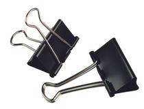 Pappersklämma Fold Back 41mm svart 12st/fp