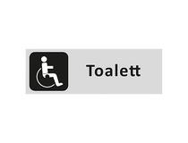 Skylt WC Handikappad 225x80mm aluminium