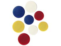Magnet rund 25mm gul 10st/fp