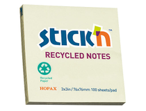 Notis Recycled 76x76 gul 12st/fp
