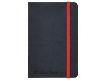 Anteckningsbok Oxford A6 linjerat svart/röd