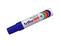 Märkpenna Artline 100 snedskuren blå 6st/fp