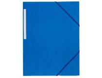 Snoddmapp A4 3-klaff blå
