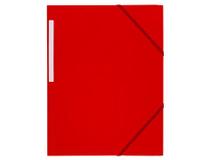 Snoddmapp A4 3-klaff röd