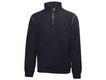 Sweatshirt Helly Hansen Oxford HalfZip svart strl 2XL