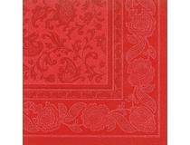 Servett Premium 40x40cm Ornaments röd 50st/fp