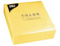 Servett 33x33 1-lag gul 100st/fp