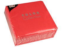 Servett 33x33 1-lag röd 100st/fp