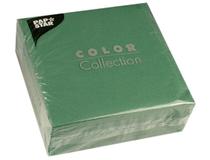Servett 33x33 1-lag mörkgrön 100st/fp
