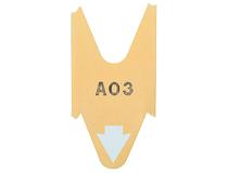 Nummerlappar D80 gula 3000st/rulle