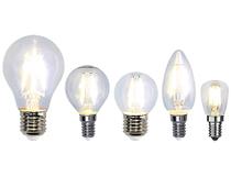 LED-lampa klar klot 2W E14